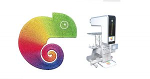 Coloreel unit and embroidery